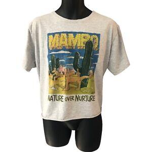 Vintage Mambo T Shirt Midriff XL Nature Over Nurture Retro