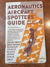 Aeronautics Aircraft Spotters Guide #4 October 1942 National Aeronautics Council