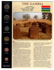 COINS FROM AROUND THE WORLD - THE GAMBIA PANEL...PCS...1998..6-COIN SET...BU UNC