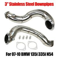 """3"""" Stainless Steel  Downpipes For  07-10 BMW 135i 335i N54 Completely"""