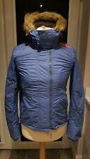 New Superdry Womens Faux Fur Hooded Jacket. Genuine. Medium
