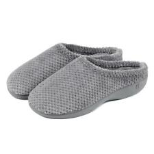 Totes Isotoner Popcorn Terry Ladies Womens Warm Comfort Slip on Mule Slippers Grey UK 5