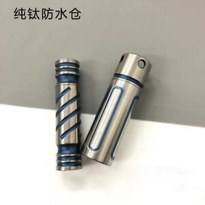 Solid Titanium Waterproof Pill Case Portable Anti-allergic Capsule Box Outdoor
