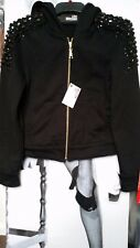 Women Love Moschino Jacket/coats Black Embellished Hoodie UK 10 EU 36 S-m
