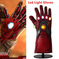 Iron Man Infinity Gauntlet LED Light Gloves Cosplay Avengers Endgame Props USA
