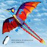3D Dragon Kites Single Line With Tail For Family Outdoor Sports Toy Gift Kids AU