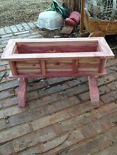 "New 24"" Cedar Wood Planter, Flower Box, By J & S Cedar Spring Is Comming"