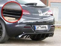 Diffusor Heckansatz Heckschürze mit PDC ABS für Opel Astra J GTC schwarz glanz