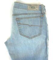 NWT DIESEL Women's Light Wash 0RZ05 Grupee Super Slim Skinny Denim Jeans 29 x 32