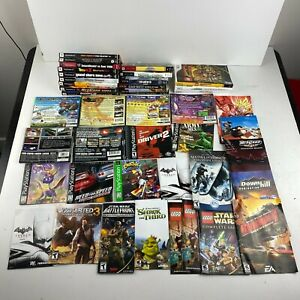 Lot of Video Game Inserts Cover Art Manuals PlayStation 1 Play Station 2 PS3 PSP