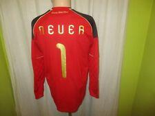 """Deutschland """"DFB"""" Nr.1248 Adidas Torwart WM Trikot 2010 + Nr.1 Neuer Gr.S- M TOP"""