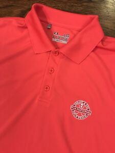 Under Armour Heat Gear PGA Tour Palm Beach Loose Polo Shirt Mens Large