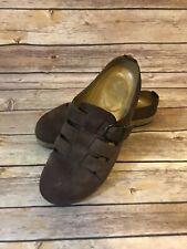 Womens Haflinger Leather Clog Mule Size 40 EU / 9 US Brown Slip On Shoes comfort