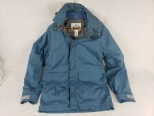 WOOLRICH wool Lined Plaid Hooded Mountain rugged Parka Jacket Coat Small