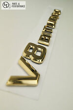 *** 24K GOLD Emblem Logo Schriftzug für Mercedes-Benz V8 BITURBO AMG ***