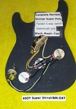 SALE..Stratocaster Wiring Harness Dunlop Super Pots /Black Magic Tone Cap/ 5x Sw