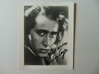 "EARLY! ""The Rock"" Nicolas Cage Hand Signed 8X10 B&W Photo Todd Mueller COA"