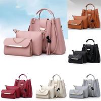 3PCS Set Women Lady Leather Handbag Shoulder Bag Satchel Messenger Purse Tote