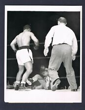 VERY RARE ROCKY MARCIANO 1953 Championship action boxing photo Roland LaStarza