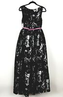 Venus Printed Black and White Long Dress Gown, Women's Size 8  | New Without Tag