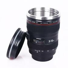 Camera Lens Cup 24-105 Coffee Travel Mug Thermos Stainless Steel& Leak-Proof Lid