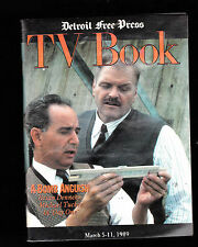 March 5 1989  Detroit Free Press TV Book- Brian Dennehy, Michael Tucker