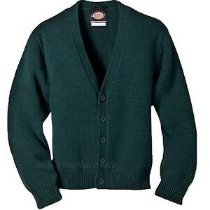 Dickies Kid's Cardigan Sweater Boys V-Neck School Uniforms KW3650
