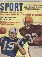DEC 1962 SPORT vintage magazine JIM BROWN - JOHNNY UNITAS