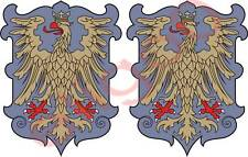 2x friuli ITALY coat of arms bumper stickers decals new