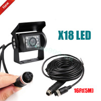 New 5M 4 PIN Heavy Duty CCD IR Night Vision Colour Reverse Rear View Camera