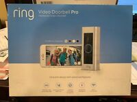 Ring Video Doorbell Pro WiFi 1080P HD Camera.FACTORY SEALED!!