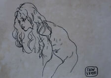 Original charcoal, drawing, signed Egon Schiele, w COA, Klimt, Picasso era