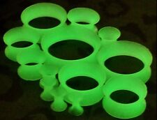 4-16mm Glow In the Dark Silicone Stretcher Expander Earing Flesh Tunnel Ear plug