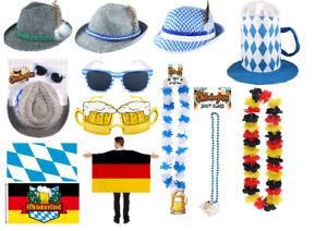 Fancy Dress Bavarian Oktoberfest German Hat Lei Flag Glasses Beer Festival Items