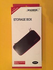 DOBE EVA Storage Case for Nintendo Switch - Black/Red  New In Box