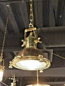 SPOT CARGO PENDENT NAUTICAL VINTAGE STYLE COPPER & BRASS HANGING NEW LIGHT 1 PCS