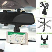Auto Car Rearview Mirror Mount Stand Holder Cradle For Cellphone GPS Universal