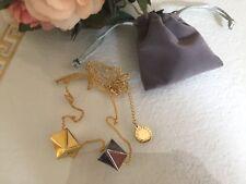 Schöne Stella Mc Cartney Parfum Halskette Kette Necklace Gold/Silber McCartney