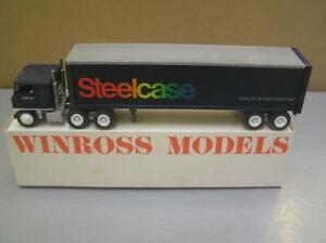 Winross 'Steelcase' Tractor Trailer Truck 1/64 scale made in USA Mint in Box MIB