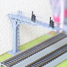 1 x HO / OO gray cantilever signal bridge LED 2 aspects double Tracks left side
