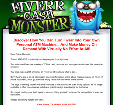 Fiverr Cash Monster Video Set - Pre Built Sales Page w/ Master Resell Rights