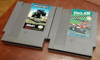 Nintendo NES R.C. Pro Am & Bigfoot cleaned & tested, authentic