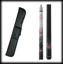 New Eight Ball Mafia EBM11 Pool Cue Stick- Pink Hart w/Wings 18-21 oz & Case