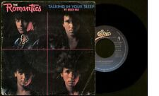 """THE ROMANTICS - Talking In Your Sleep / Rock You Up - SPAIN SG 7"""" Epic 1983"""