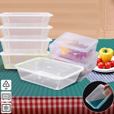 96 PLASTIC FOOD CONTAINERS LUNCH MEAL PREP TAKEAWAY TUB MICROWAVE FREEZER SAFE