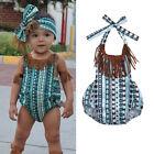 Newborn Baby Kids Girl Tassel Bodysuit Romper Jumpsuit Palysuit Outfits Costume