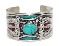 Coral Bracelet Cuff Bracelet Tibetan Bracelet Turquoise Bracelet Tribal