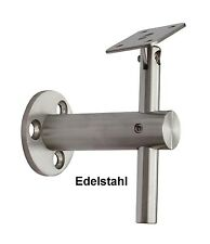 Edelstahl Handlaufträger Handlaufhalter Handlauf  Holz Geländer Flach 52324