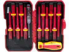 13Pc Interchangeable VDE 1000V Insulated Grip Slotted Torx Phillips Screwdrivers