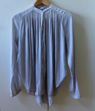 Pretty Soft Grey PLeated details Blouse from Country Road - Size XS